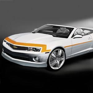 GM (General Motors) - 22844277 - Nose and Spear Stripe Package - 2012-13 Camaro Base Model, Orange
