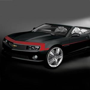 GM (General Motors) - 22844278 - Nose and Spear Stripe Package - 2012-13 Camaro Base Model, Red