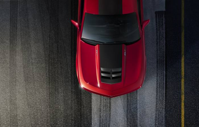 GM (General Motors) - 22873467 - ZL1 Stripes, 2012-14 Camaro, Not For Use with Sunroofs, Gray