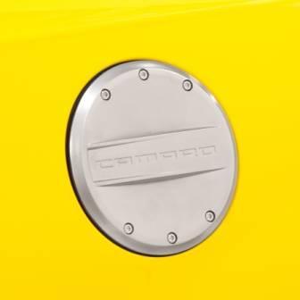 GM (General Motors) - 22959850 - 2012-14 Camaro Fuel Door, Chrome with Camaro Logo