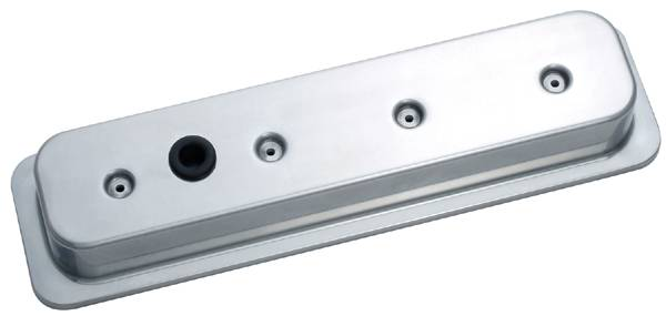 Proform - 141134 - Die-Cast Aluminum Valve Cover - '87-current SBC, Polished, No-Logo with Baffle