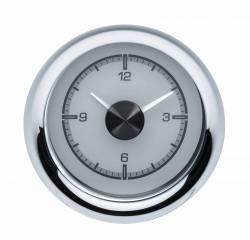 Dakota Digital - DAKHLC-55C-S - 1955-56 Chevy Car HDX Style Clock, Silver Face - Image 1