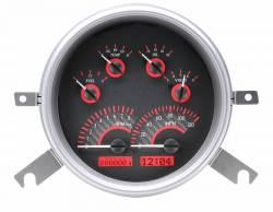 Dakota Digital - DAKVHX-49C-C-R - 1949-50 Chevy Car VHX System, Carbon Fiber Style Face, Red Display - Image 2