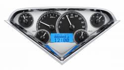 Dakota Digital - DAKVHX-55C-PU-S-B - 1955-59 Chevy Pickup VHX System, Silver Alloy Style Face, Blue Display - Image 2