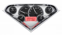 Dakota Digital - DAKVHX-55C-PU-S-R - 1955-59 Chevy Pickup VHX System, Silver Alloy Style Face, Red Display - Image 2