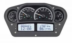 Dakota Digital - DAKVHX-1100-K-W - Race Inspired VHX System, Black Alloy Style Face, White Display - Image 1