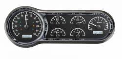 Dakota Digital - DAKVHX-53C-K-W - 1953-54 Chevy Car VHX System, Black Alloy Style Face, White Display - Image 1