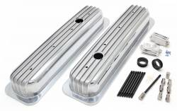 Trans-Dapt Performance Products - Retro Valve Covers; Short; 1987-1999 Small Block Chevy 5.0/5.7L, Aluminum Trans-Dapt 6607 - Image 2
