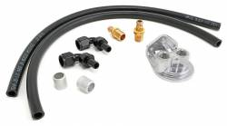 Trans-Dapt Performance Products - TD1012 - Trans Dapt Single Oil Filter Relocation Kit For LS Oil Pans with-10AN fittings-Vert Ports - Image 1