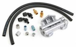 Trans-Dapt Performance Products - TD1016 - Trans-Dapt Dual Oil Filter Relocation Kit For LS Oil Pans with-10AN fittings- Cast Aluminum - Image 1