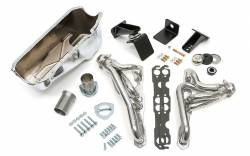 Trans-Dapt Performance Products - Jeep CJ Engine Swap In A Box Kit for 55-78 SB Chevy in 72-86 Jeep CJ with HTC Silver Headers Trans Dapt 41002 - Image 1
