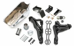 Trans-Dapt Performance Products - Jeep CJ Engine Swap In A Box Kit for 55-78 SB Chevy in 72-86 Jeep CJ with Elite Heavy Duty Black Headers Trans Dapt 41005 - Image 1
