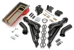Trans-Dapt Performance Products - LS Engine Swap In A Box Kit for LS in 68-72 GM A-Body TH350 700R4 Mid-Length Uncoated TD46011 - Image 1