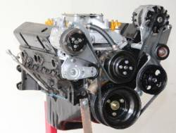 Kwik Performance - K10323 -  SBC Serpentine System Brackets Only, Sanden Mini-A/C, Alternator, Power Steering - Image 1