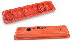 Proform - 141918 - Engine Valve Covers; Center Bolt; Steel; Chevy Orange w/ Bowtie Logo; SB Chevy - Image 2