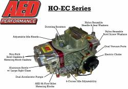 AED Performance - AED AL650HO-EC-RD Aluminum 650 HO Double Pumper w/Red Billet Metering Blocks and Electric Choke - Image 2