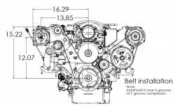 Kwik Performance - K10470 - Corvette LSX AC Bracket Kit - Image 3