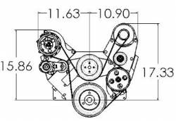 Kwik Performance - K10278 -  BBC Serpentine System-Sanden Mini-AC, Alt, Type 2 PS - Image 2