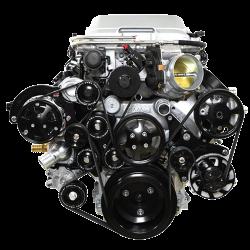 Billet Specialties - LSA Tru Trac System with A/C, Power Steering, and Alternator, Black Billet Specialties BLK13410 - Image 2