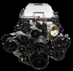 Billet Specialties - LSA Tru Trac System with A/C, Power Steering, and Alternator, Black Billet Specialties BLK13410 - Image 1