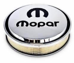 "Proform - Mopar Air Cleaner 14"" Slant-Edge Chrome with Recessed Black Emblem Proform 440835 - Image 2"