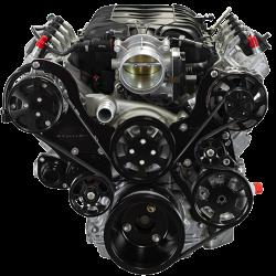 Billet Specialties - LT1 Gen V Tru Trac System with  Alternator, P/S and A/C, Black Billet Specialties BLK13550 - Image 1