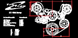 Billet Specialties - LT1 Gen V Tru Trac System with  Alternator, P/S and A/C, Black Billet Specialties BLK13550 - Image 5