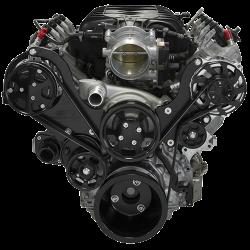 Billet Specialties - LT1 Gen V Tru Trac System Alternator and A/C, Black Billet Specialties BLK13560 - Image 1