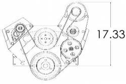 Kwik Performance - K10257 - Bbc Serpentine System-Sanden Mini-Ac, Alt, Type 2 Ps - Image 2