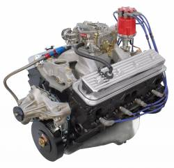 Performance Engines - SBC Complete Carb to Pan Engines - Blue Print - BP3550CTC1 - BluePrint Fully Dressed SBC 355CID 385HP Long Block Crate Engine 1pc Rear Seal