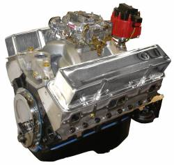 Performance Engines - SBC Complete Carb to Pan Engines - Blue Print - BP35512CTC1 - BluePrint Fully Dressed SBC 355CID 375HP Long Block Crate Engine 1pc Rear Seal
