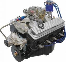 Performance Engines - SBC Complete Carb to Pan Engines - Blue Print - BP3830CTC1 - BluePrint Fully Dressed SBC 383CID 405HP Long Block Crate Engine 1pc Rear Seal