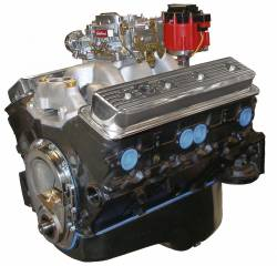 Performance Engines - SBC Complete Carb to Pan Engines - Blue Print - BP3832CTC1 - BluePrint Partial Dressed SBC 383CID 310HP Long Block Crate Engine 1pc Rear Seal
