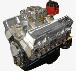 Performance Engines - SBC Complete Carb to Pan Engines - Blue Print - BP3961CTC - BluePrint Partial Dressed SBC 396CID 485HP Long Block Crate Engine 1pc Rear Seal