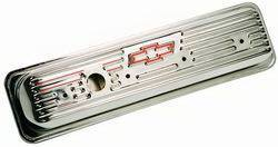 Proform - 141107 - Stamped Steel Valve Cover - 87-current SBC, Chrome, Short with Baffle