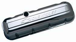 Proform - 141115 - Stamped Steel Valve Cover - BBC, Chrome, Tall with Baffle