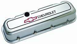 Proform - 141140 - Die Cast Aluminum Valve Cover - pre-1987 BBC, Chrome, Tall with Baffle