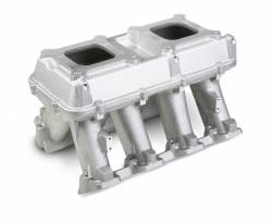 Intake Manifolds - Carbureted LS Intake Manifolds - Holley - HLY - HLY300-113 - Holley LS3 Style Carbureted Hi-Ram Style Intake, 2 X 4150 (Standard Square Bore) Sideways And Inline Mounting Dual Quad