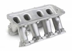 Intake Manifolds - Carbureted LS Intake Manifolds - Holley - HLY - HLY300-213 - LS3 Style Carbureted Base Only ( Plenum-Top Mounting Fabrication Flange Available Seperate)