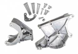 Pulleys, Accessory Brackets, Serpentine Drive Kits & Belts - A/C Compressor Pulleys and Mounting Brackets - Holley - HLY - HLY20-131 Holley GM LS A/C, P/S & Alt Serp Bracket Kit