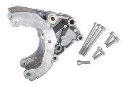 Pulleys, Accessory Brackets, Serpentine Drive Kits & Belts - A/C Compressor Pulleys and Mounting Brackets - Holley - HLY - HLY20-133 Holley GM LS A/C Compressor Relocation Bracket Kit