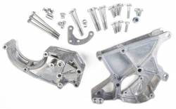 Pulleys, Accessory Brackets, Serpentine Drive Kits & Belts - A/C Compressor Pulleys and Mounting Brackets - Holley - HLY - HLY20-132 Holley GM LS A/C, P/S & Alt Serp Bracket Kit (Sanden)