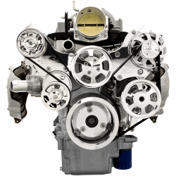 Billet Specialties - BSP13455 - Tru Trac LS (Except LS7) Serpentine System - Alternator And Power Steering Only,  Polished - Image 1