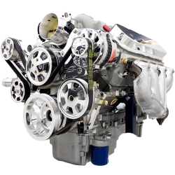 Billet Specialties - BSP13455 - Tru Trac LS (Except LS7) Serpentine System - Alternator And Power Steering Only,  Polished - Image 2